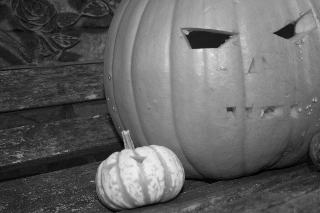 typische Dekoration an Halloween