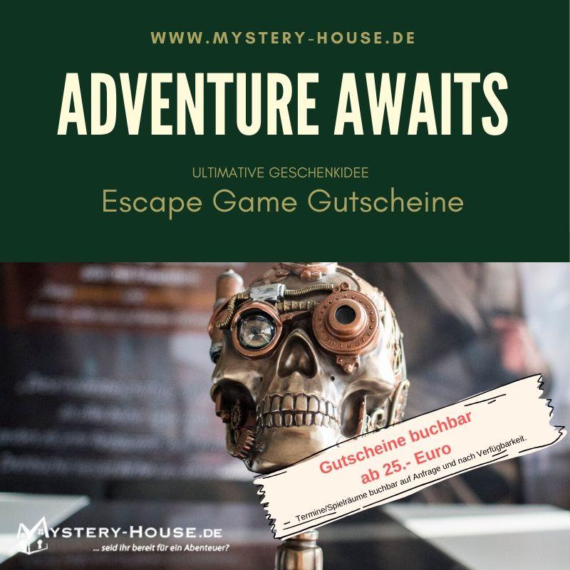 Escape Game Gutscheine verschenken